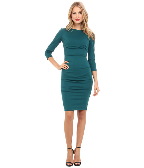 Nicole Miller - Ponte Day Dress (Pine) Women's Dress