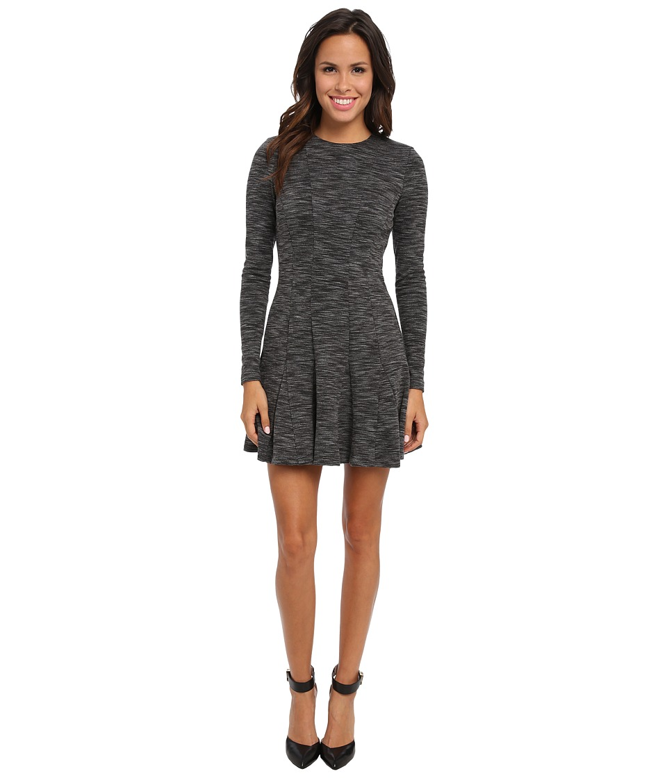 Nicole Miller Amber Heathered Flare Dress (Grey) Women