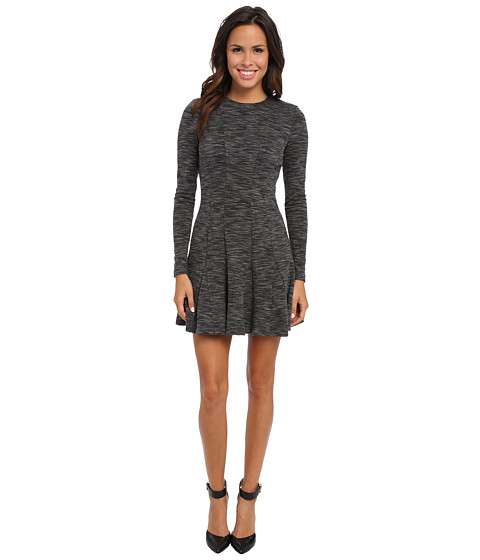 Nicole Miller - Amber Heathered Flare Dress (Grey) Women