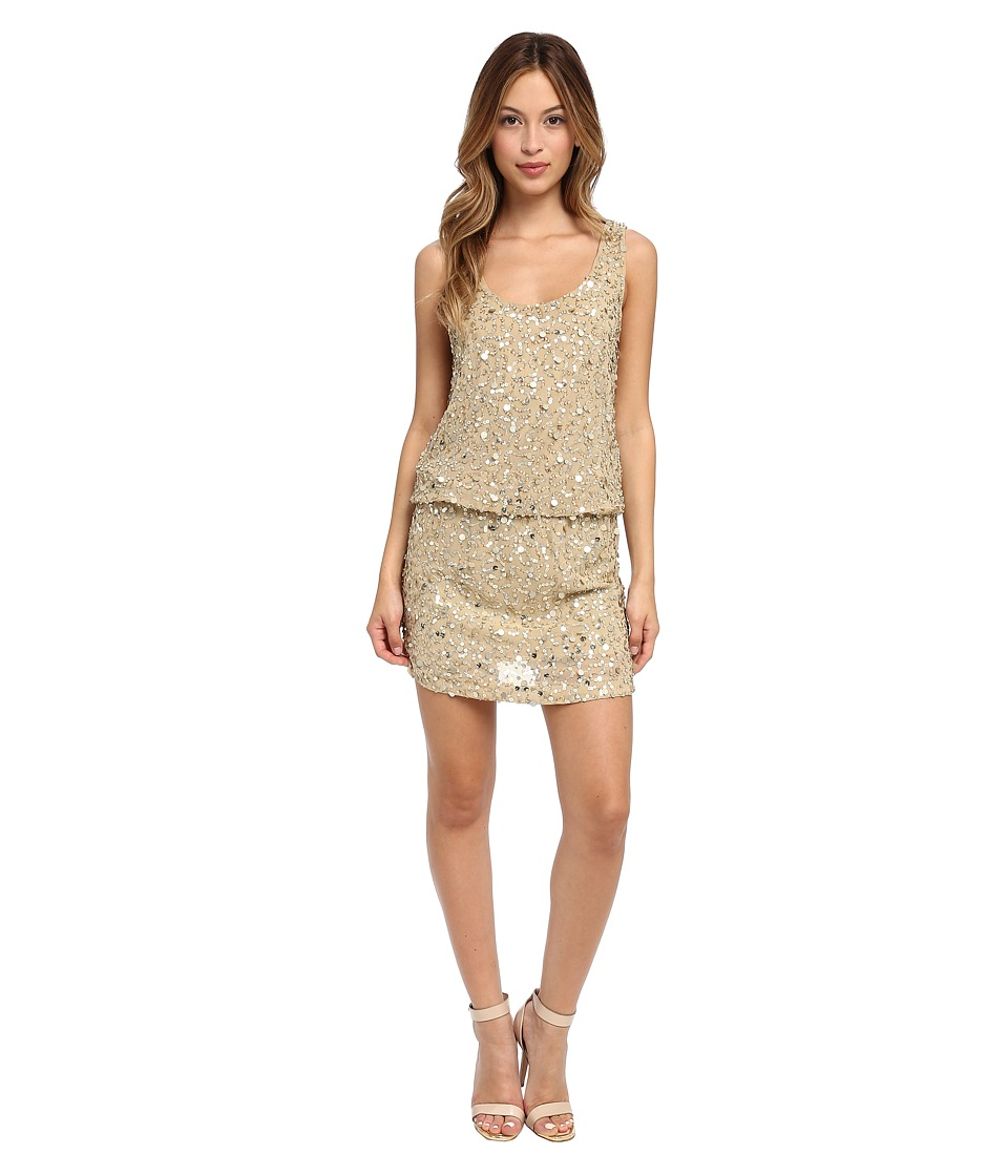 Nicole Miller - Seashell Sequin Blouson Dress (Gold) Women's Dress