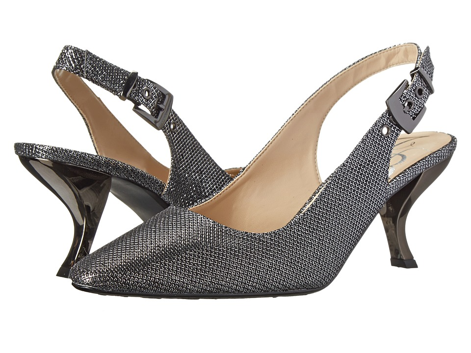 J. Renee Alaric (Pewter Glitter Fabric) High Heels