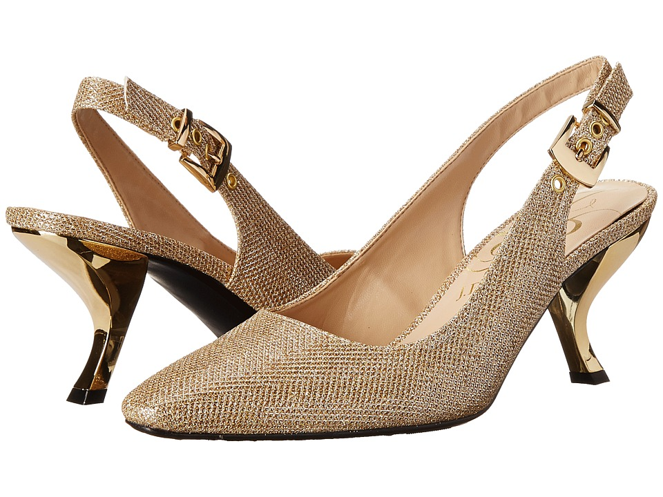 J. Renee Alaric (Gold Glitter Fabric) High Heels