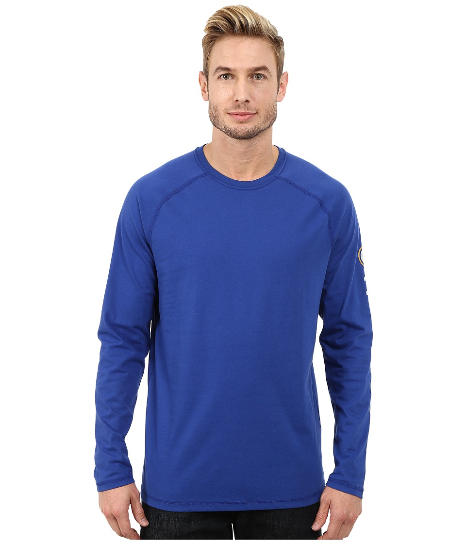 Carhartt - Force Cotton Delmont Sleeve Graphic T-Shirt (Nautical Blue) Men's Long Sleeve Pullover