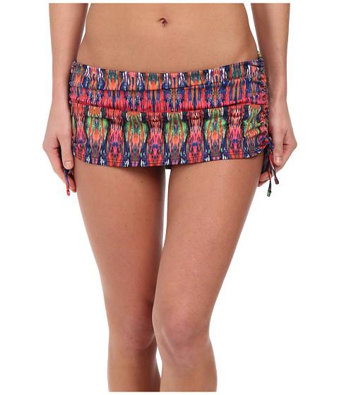 Tommy Bahama - Ikat Tie Dye Side Shirred Skirted Hipster Bottom (Multi) Women's Swimwear