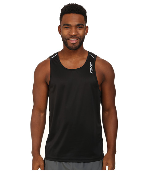 2XU - Tech Singlet (Black/Black) Men
