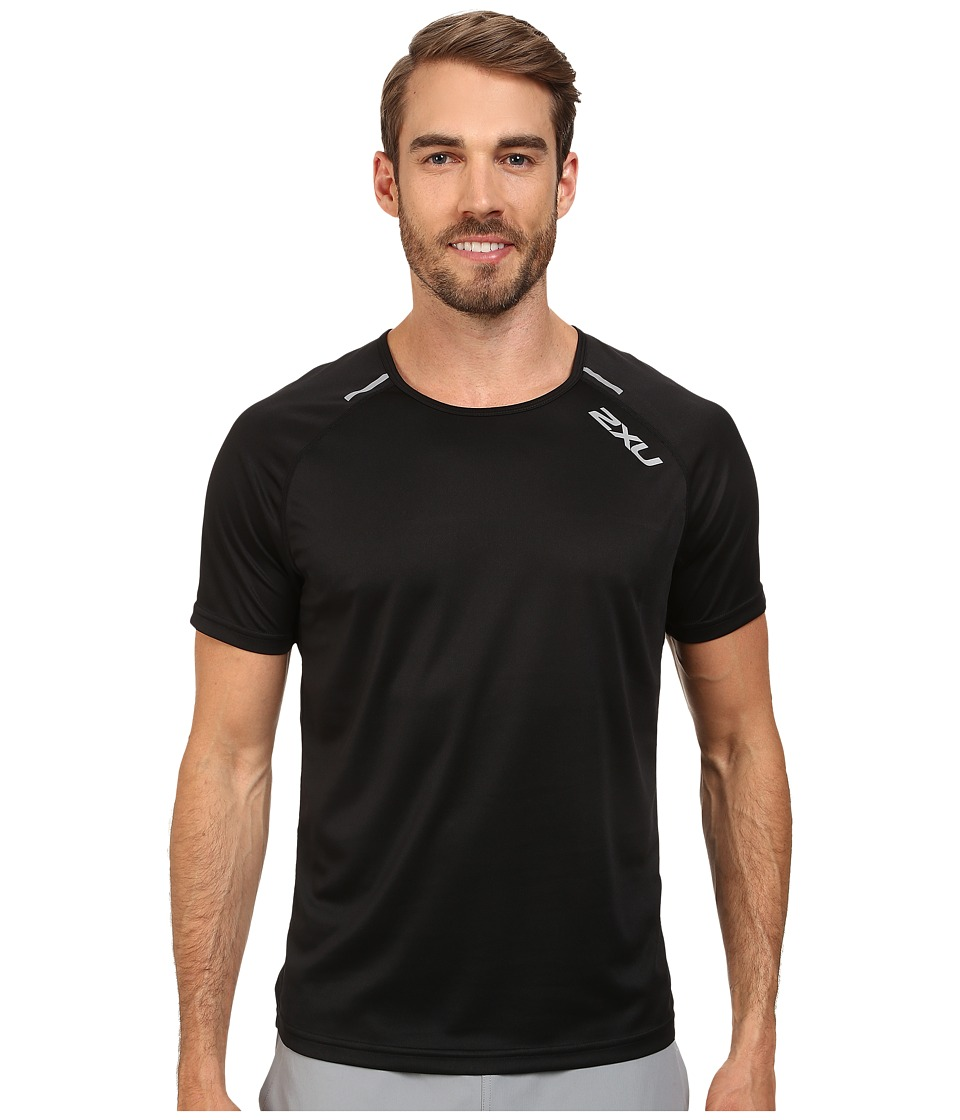 2XU - Tech Short Sleeve Top (Black/Black) Men's T Shirt