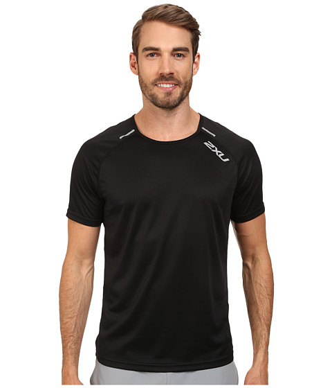 2XU - Tech Short Sleeve Top (Black/Black) Men