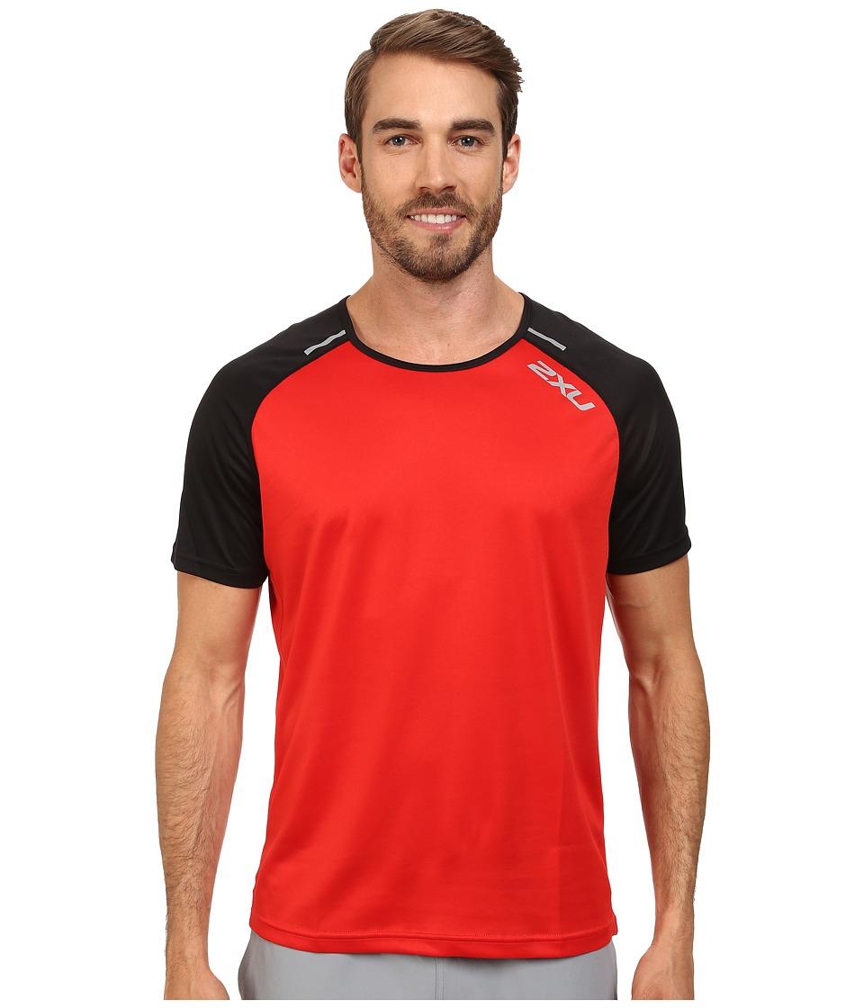 2XU - Tech Short Sleeve Top (Scarlet/Black) Men's T Shirt
