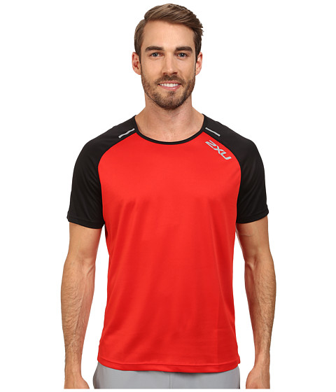 2XU - Tech Short Sleeve Top (Scarlet/Black) Men's T Shirt