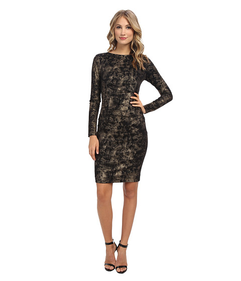 Nicole Miller - Smudge Glazed Dress (Black/Gold) Women