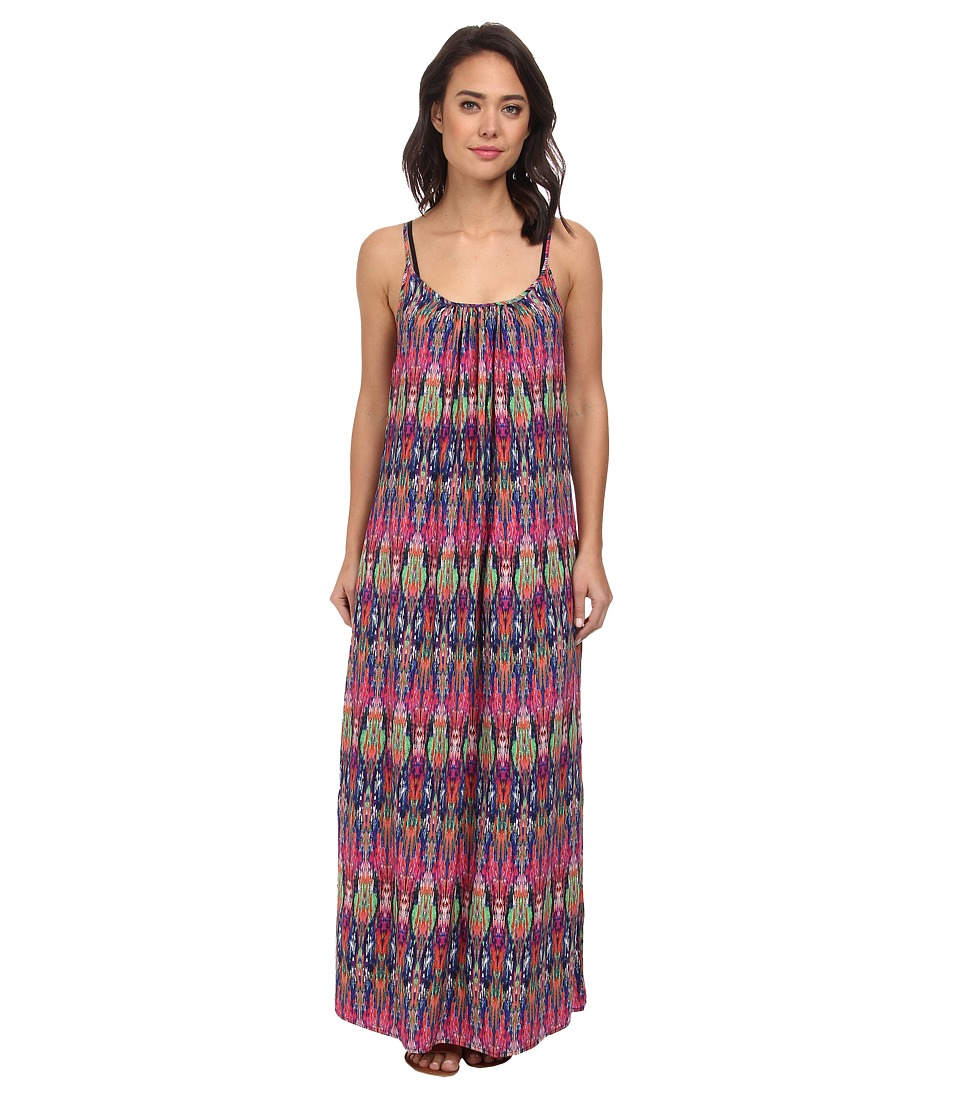 Tommy Bahama - Ikat Tie Dye Spaghetti Strap Long Beach Cover-Up Dress (Multi) Women's Swimwear
