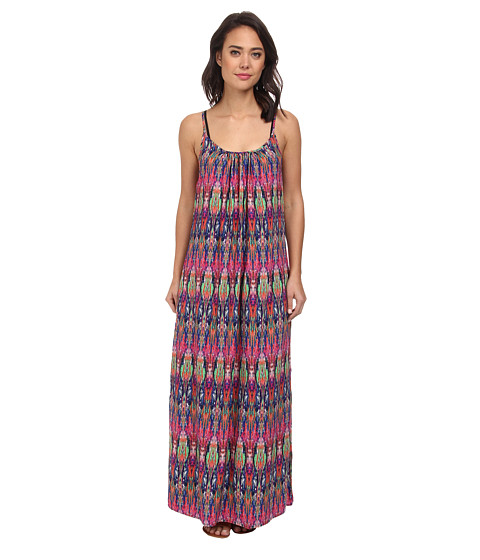 Tommy Bahama - Ikat Tie Dye Spaghetti Strap Long Beach Cover-Up Dress (Multi) Women