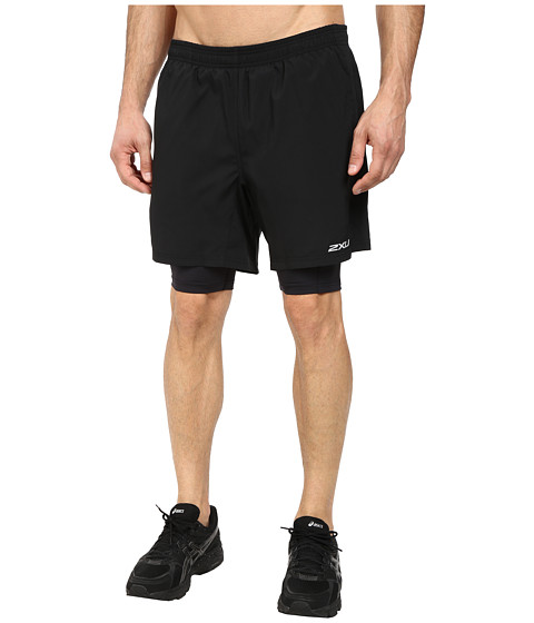 2XU - Pace Compression Short (Black/Black) Men