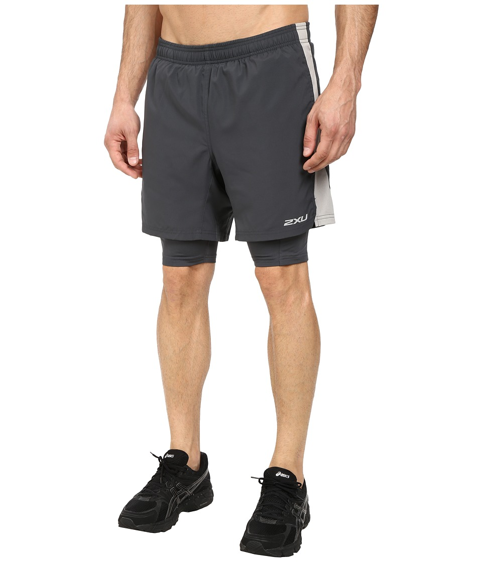 2XU - Pace Compression Short (Charcoal/Pebble Grey) Men's Shorts