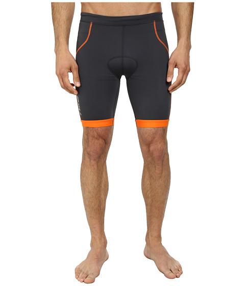 2XU - G:2 Active Tri Short (Charcoal/Lotus Orange) Men's Shorts