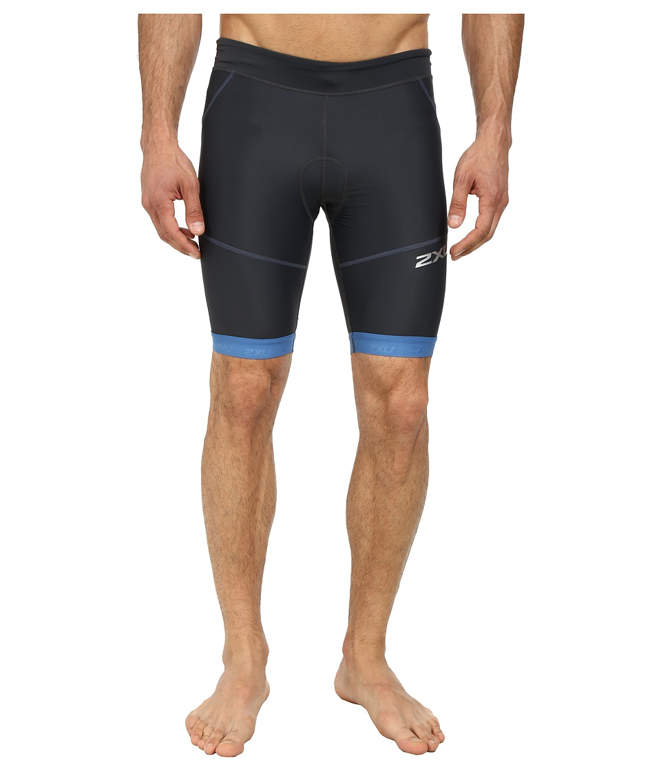 2XU - Perform Tri Short 9 (Charcoal/Pacific Blue) Men's Shorts