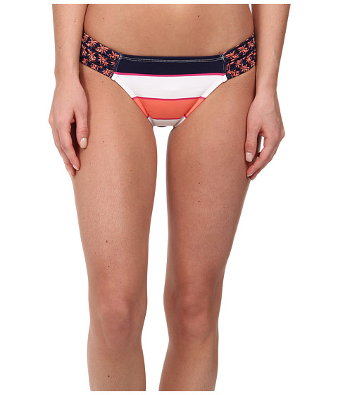 Tommy Bahama - Rugby Palm Side Shirred Hipster Bottom (Coral/Mare) Women's Swimwear