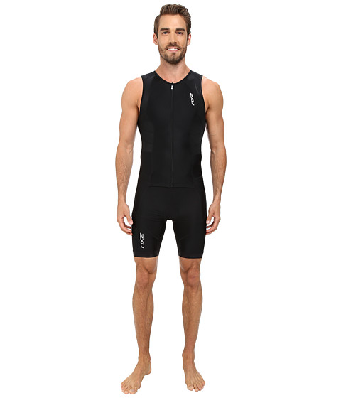 2XU - Full Zip Trisuit (Black/Black) Men