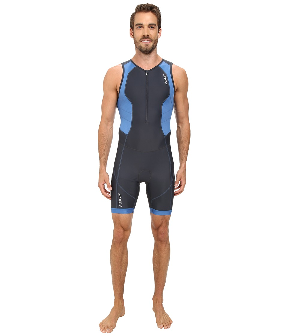 2XU - Perform Trisuit (Charcoal/Pacific Blue) Men
