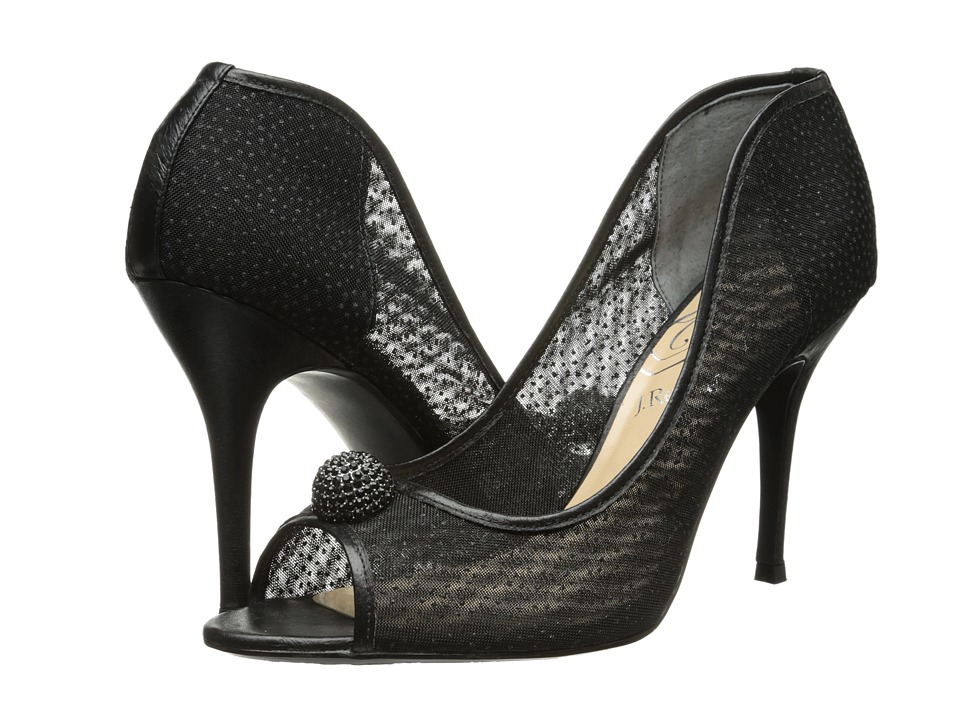 J. Renee Genette (Black Fabric/Nappa) High Heels