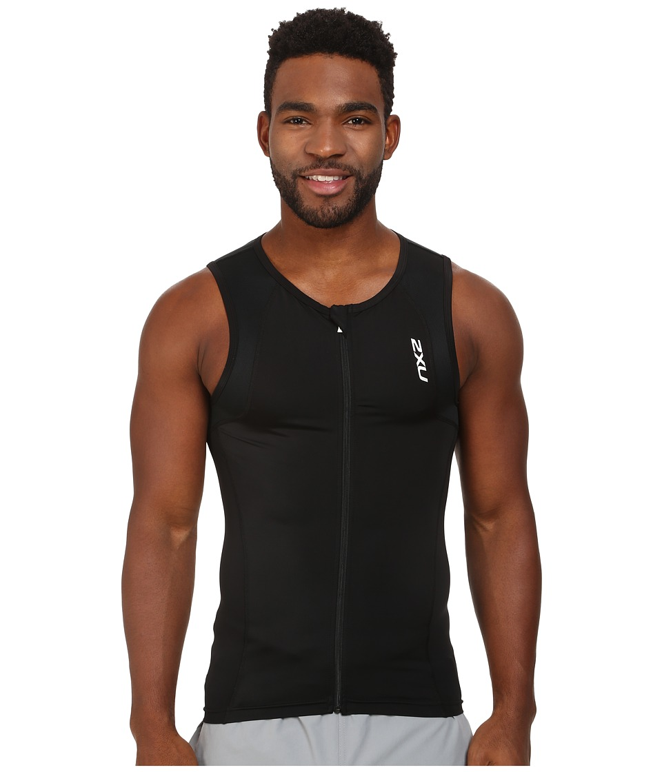 2XU - G:2 Active Tri Singlet (Black/Black) Men's Sleeveless