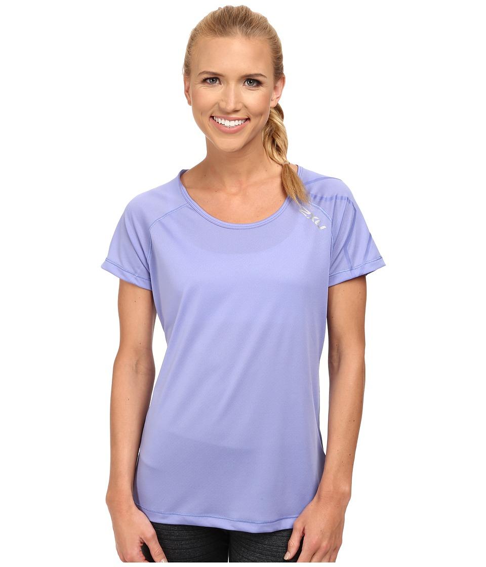 2XU - GHXST Short Sleeve Top (Amethyst/Amethyst) Women's Short Sleeve Pullover