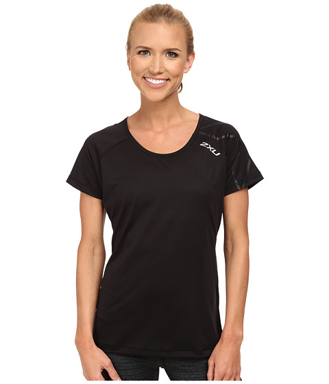 2XU - GHXST Short Sleeve Top (Black/Black) Women