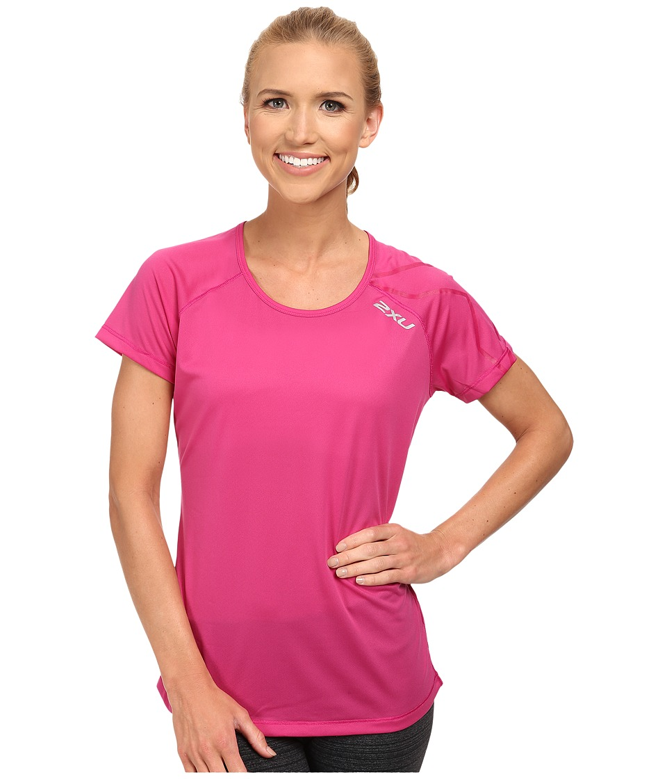 2XU - GHXST Short Sleeve Top (Magenta/Magenta) Women's Short Sleeve Pullover