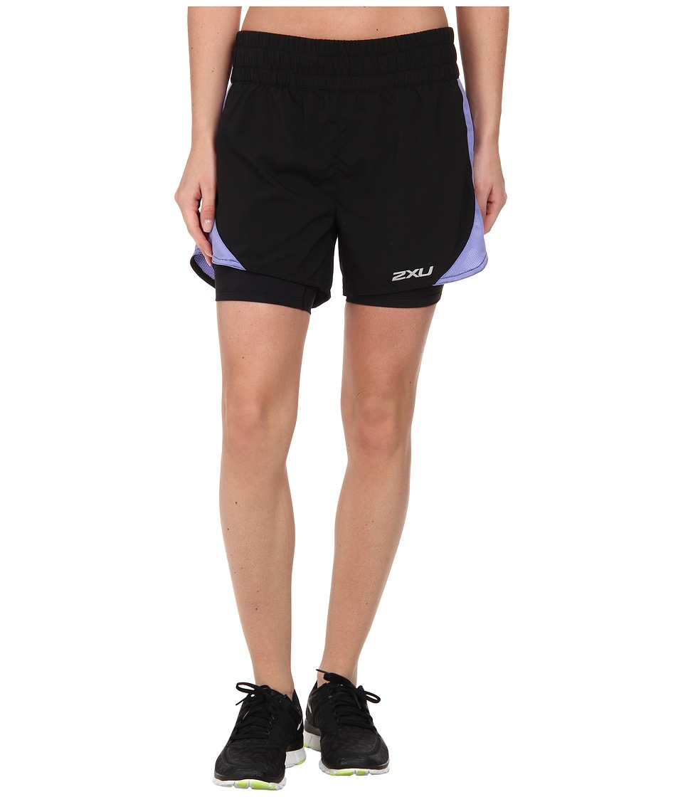 2XU - Pace Compression Short (Black/Amethyst) Women's Workout