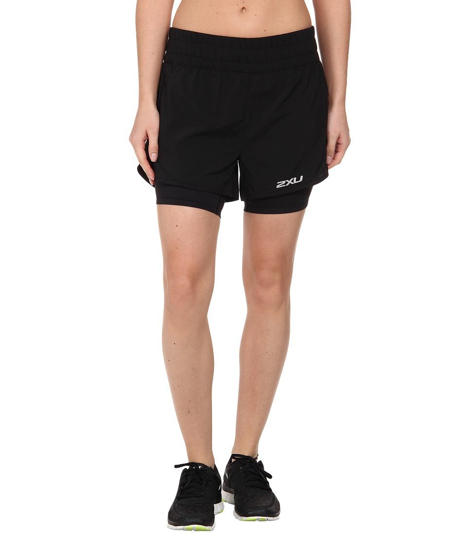 2XU - Pace Compression Short (Black/Black) Women's Workout