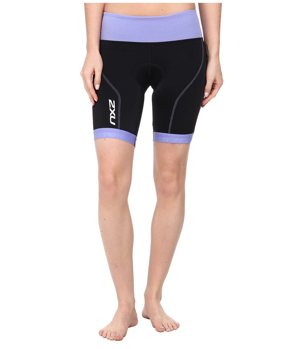 2XU - Perform Tri Short (Black/Amethyst) Women's Shorts