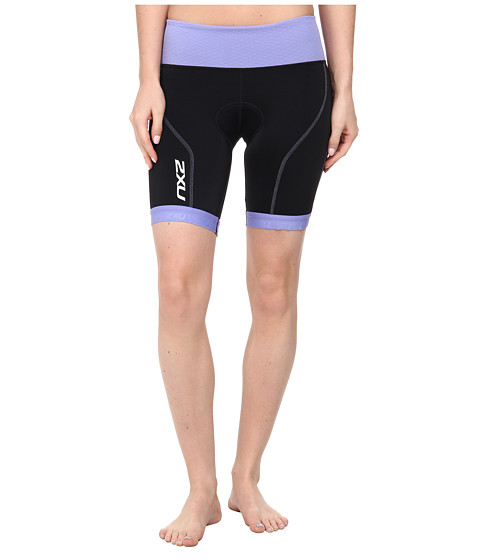 2XU - Perform Tri Short (Black/Amethyst) Women