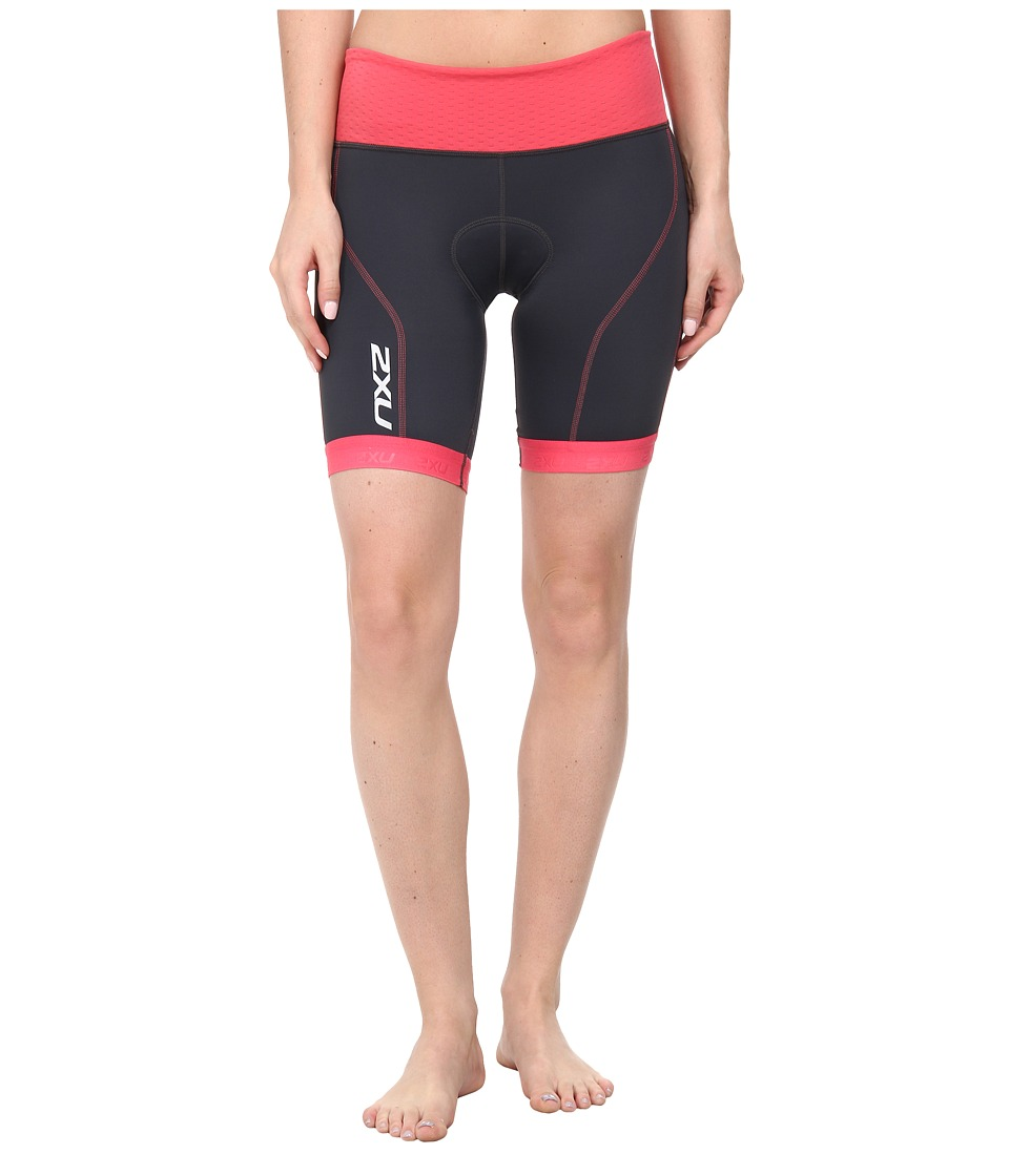 2XU - Perform Tri Short (Charcoal/Coral Paradise) Women's Shorts