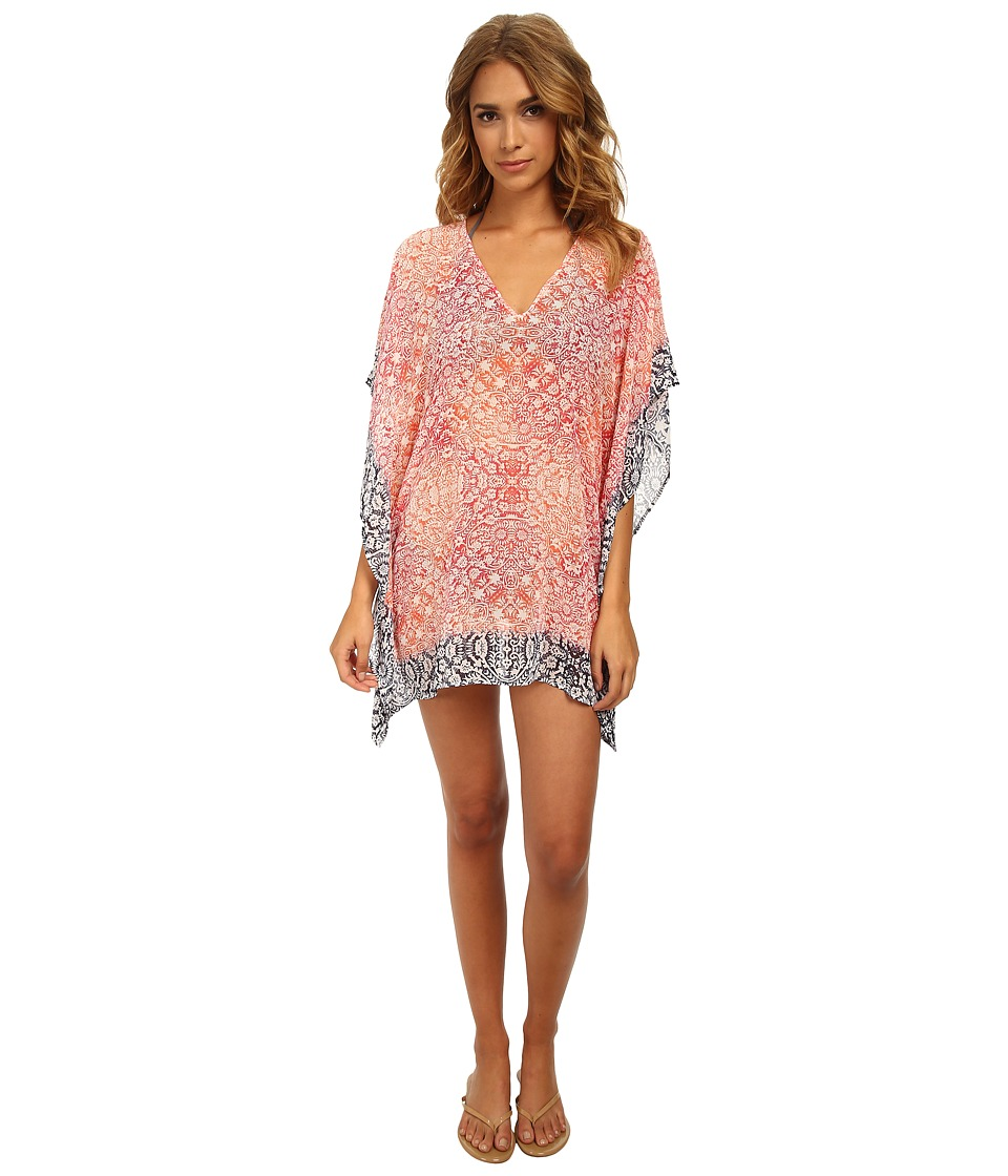 Tommy Bahama - Coral Medallion Tunic Cover-Up (Coral/Bright Pink/Mare) Women