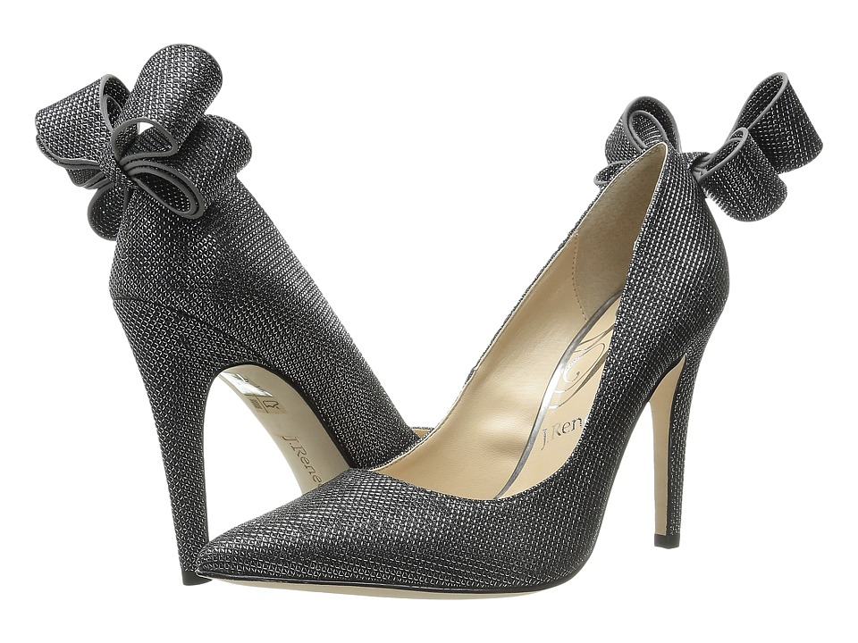 J. Renee Kete (Pewter Glitter Fabric) High Heels