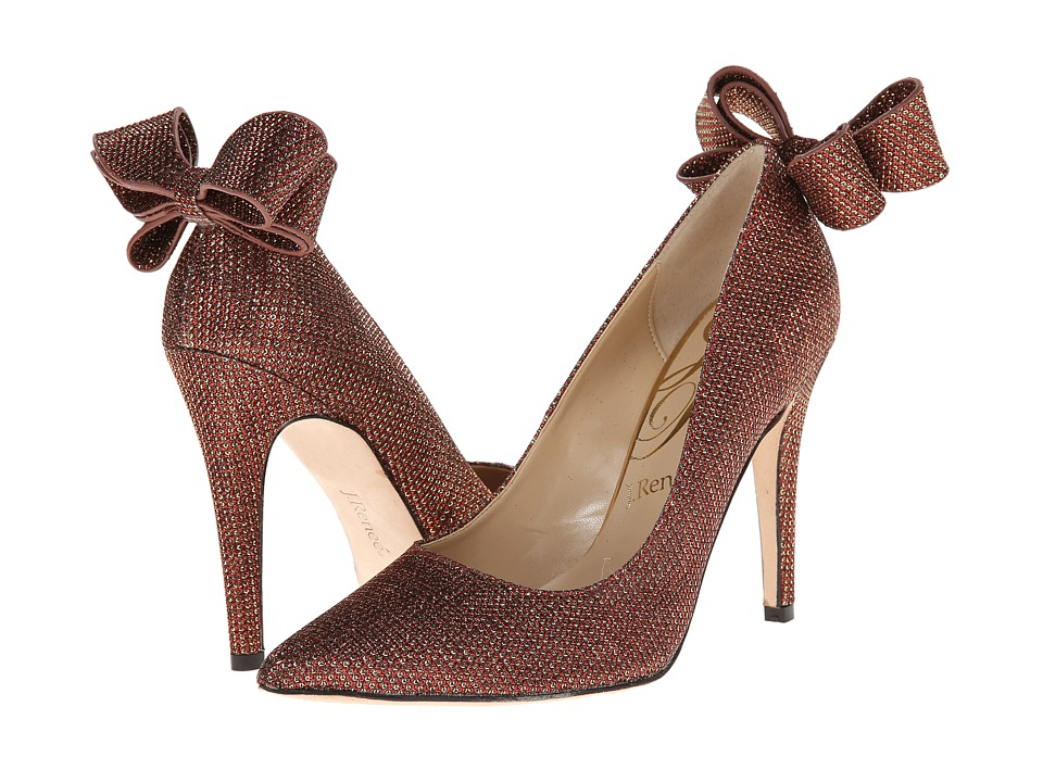 J. Renee Kete (Red Glitter Fabric) High Heels