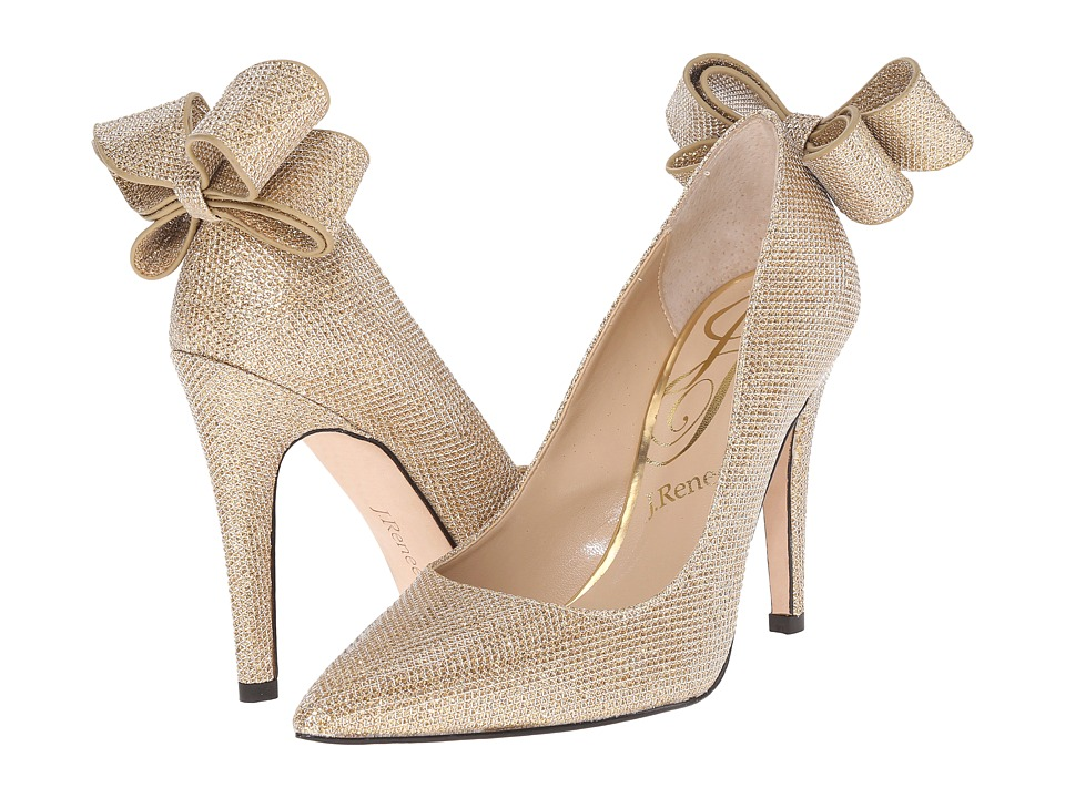 J. Renee - Kete (Gold Glitter Fabric) High Heels