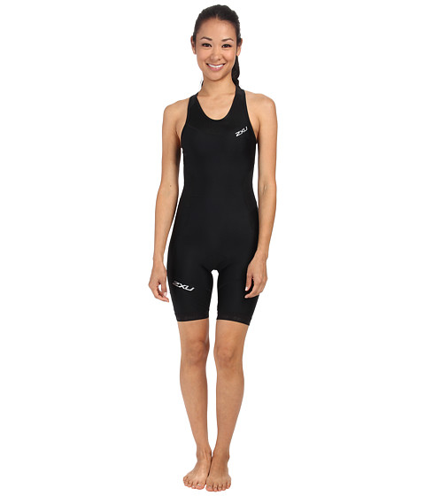 2XU - Perform Y Back Trisuit (Black/Black) Women's Race Suits One Piece