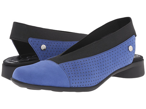 J. Renee - Niro (Blue/Black Nubuck) Women's Slip on Shoes