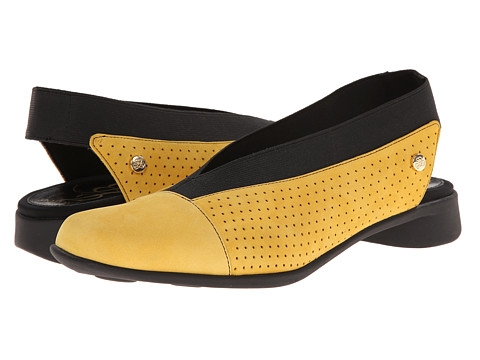 J. Renee - Niro (Yellow/Black Nubuck) Women's Slip on Shoes