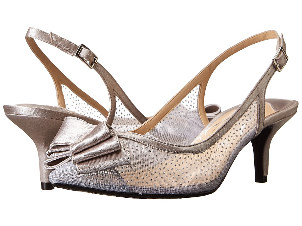 J. Renee - Vanna (Silver Mesh) High Heels