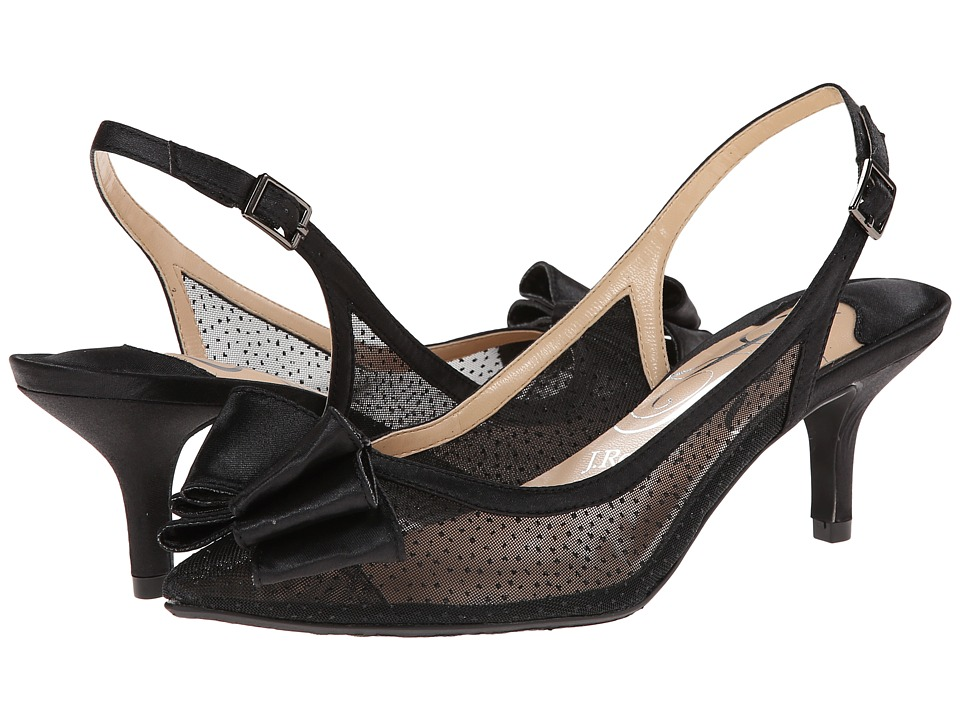 J. Renee - Vanna (Black Mesh) High Heels