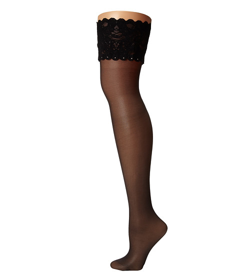 Wolford - Silk Crystal Stay-Up (Black) Hose