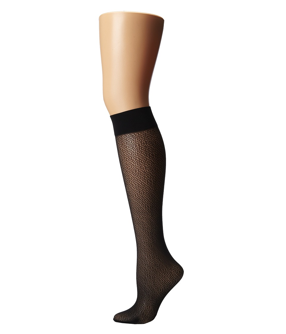 Wolford - Comfort Decor Knee-Highs (Black) Women's Knee High Socks Shoes