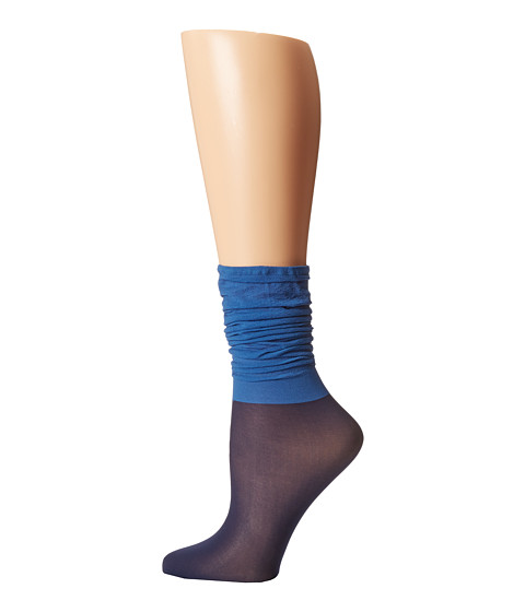 Wolford - Colora Socks (Brilliant/Navy) Women's No Show Socks Shoes