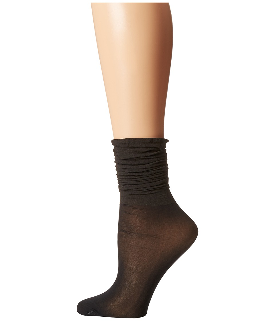 Wolford - Colora Socks (Black/Black) Women's No Show Socks Shoes
