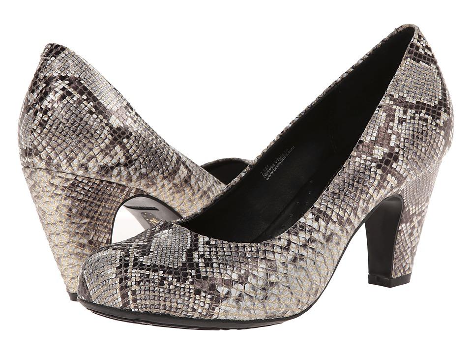 Born - Sabrina - Crown Collection (Roccia Snake Metallic) Women's Shoes