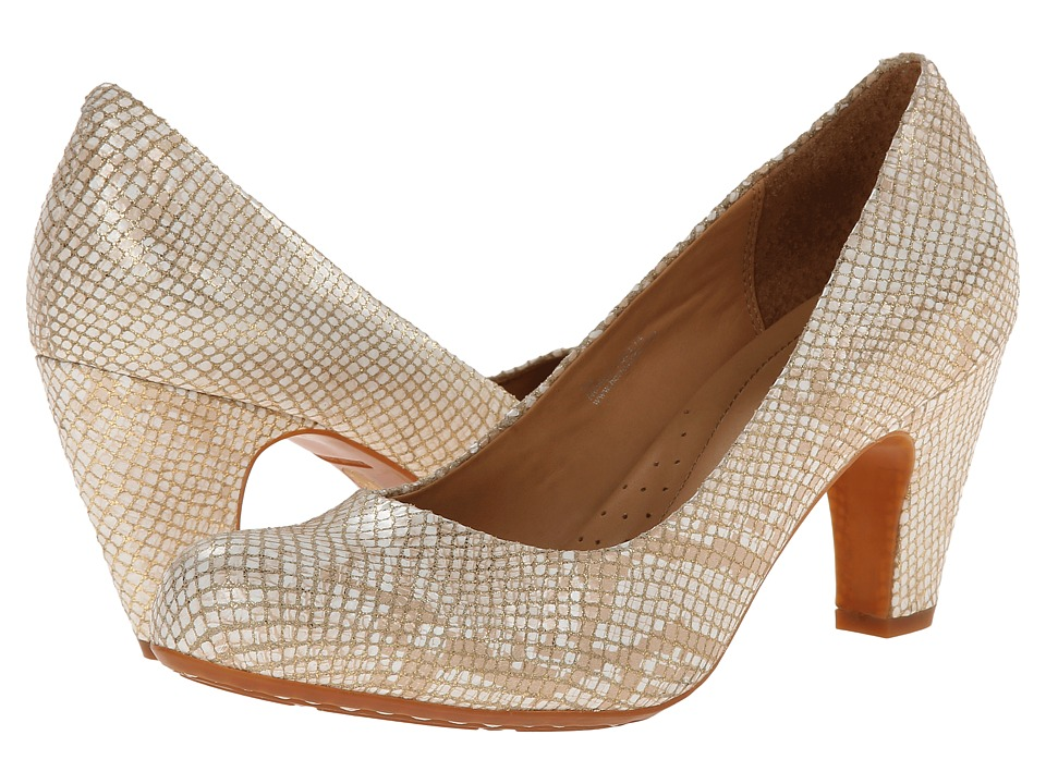 Born - Sabrina - Crown Collection (Almond Snake Metallic) Women's Shoes
