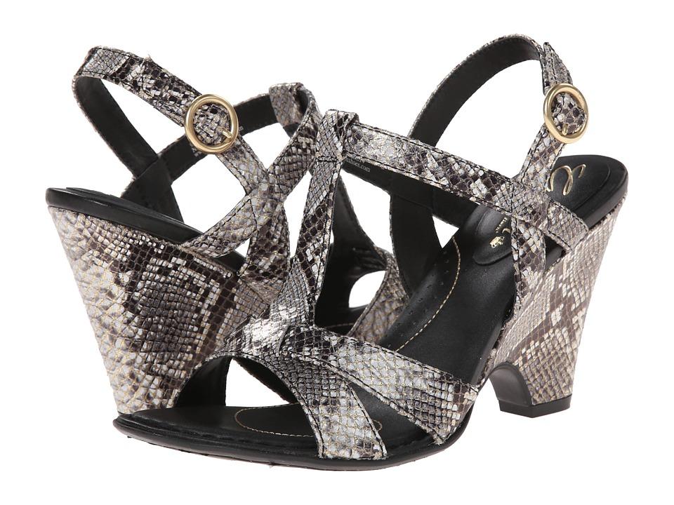 Born - Meri - Crown Collection (Roccia/Gold Snake Metallic) High Heels