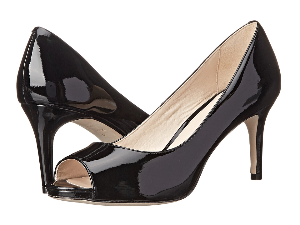 Cole Haan Bethany Open Toe Pump (Black Patent) High Heels
